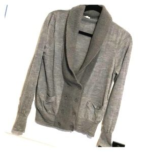 Double-breasted wool cardigan